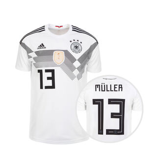 DFB Trikot Home Müller WM 2018 Kinder, Weiß, zoom bei OUTFITTER Online