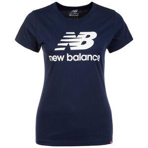 Essentials Stacked Logo T-Shirt Damen, dunkelblau / weiß, zoom bei OUTFITTER Online