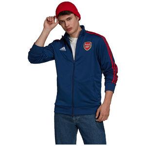 FC Arsenal 3-Streifen Trainingsjacke Herren, dunkelblau / rot, zoom bei OUTFITTER Online