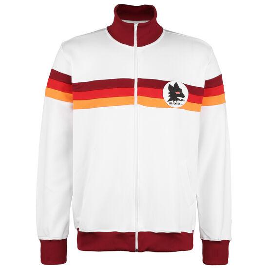 AS Rom 1981/1982 Retro Trainingsjacke Herren, weiß / rot, zoom bei OUTFITTER Online