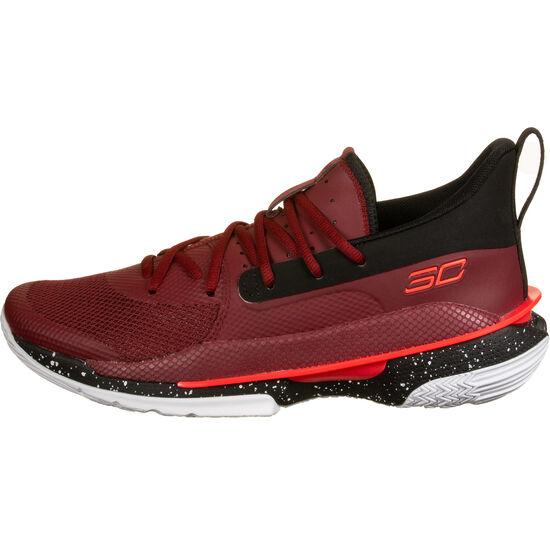 Curry 7 Basketballschuh Herren, grau / neonrot, zoom bei OUTFITTER Online