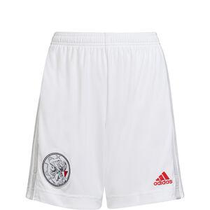 Ajax Amsterdam Shorts Home 2021/2022 Kinder, weiß / hellgrau, zoom bei OUTFITTER Online