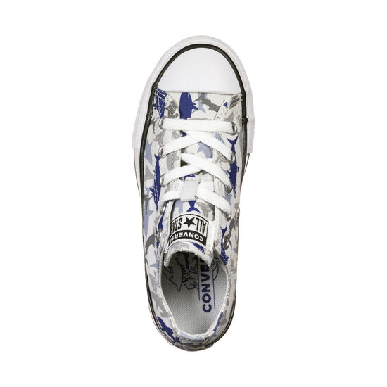 Chuck Taylor All Star Shark Bite OX Sneaker Kinder, grau / blau, zoom bei OUTFITTER Online