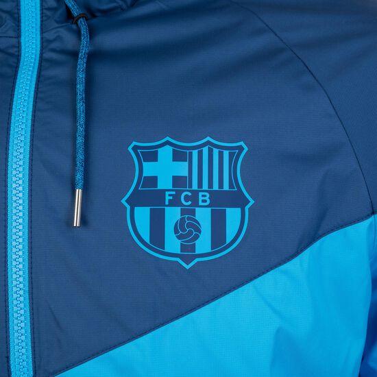 FC Barcelona Windrunner Kapuzenjacke Herren, hellblau / dunkelblau, zoom bei OUTFITTER Online
