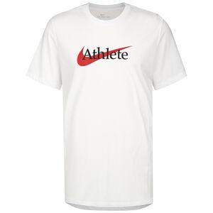 Swoosh Athlete Trainingsshirt Herren, weiß / rot, zoom bei OUTFITTER Online