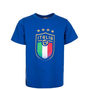 FIGC Italien Badge T-Shirt Kinder, Blau, zoom bei OUTFITTER Online
