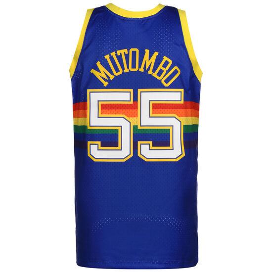 NBA Denver Nuggets 2.0 #Dikembe Mutombo Basketballtrikot Herren, blau / bunt, zoom bei OUTFITTER Online