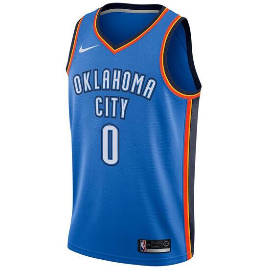 NBA Oklahoma City Thunder #0 Westbrook Basketballtrikot Herren, hellblau / orange, zoom bei OUTFITTER Online