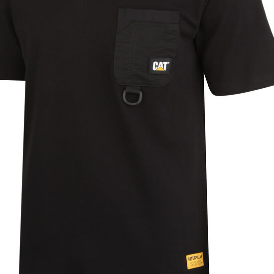 Caterpillar Ring Pocket T-Shirt Herren, schwarz, zoom bei OUTFITTER Online