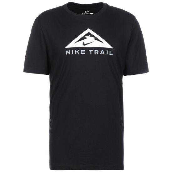 Trail Laufshirt Herren, schwarz / weiß, zoom bei OUTFITTER Online