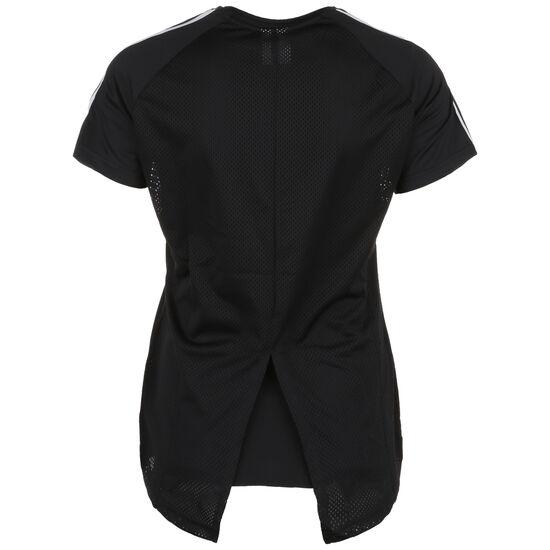 Design 2 Move 3-Streifen Trainingsshirt Damen, schwarz / weiß, zoom bei OUTFITTER Online