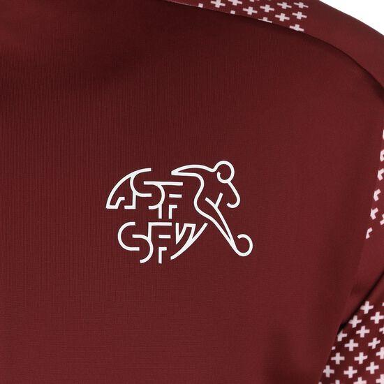 SFV Schweiz Stadium Trainingsjacke EM 2021 Herren, bordeaux / weiß, zoom bei OUTFITTER Online