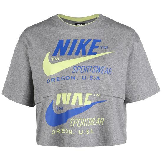Icon Clash T-Shirt Damen, grau / blau, zoom bei OUTFITTER Online