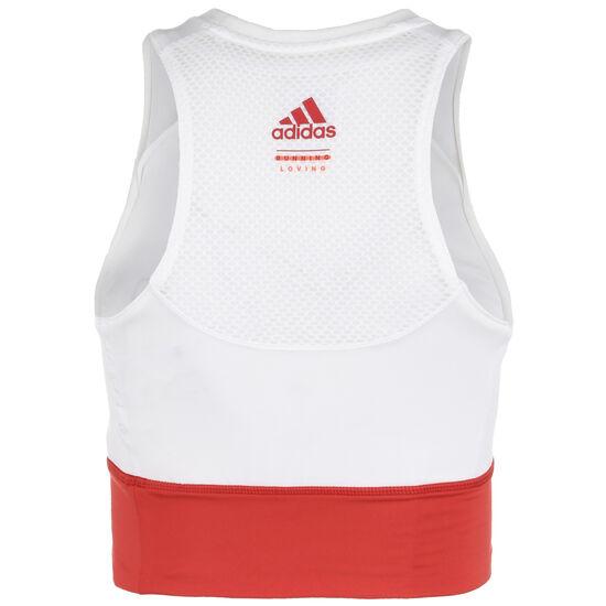 Own The Run Crop Lauftank Damen, weiß / rot, zoom bei OUTFITTER Online
