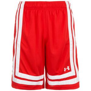 Baseline Basketballshort Herren, rot / weiß, zoom bei OUTFITTER Online