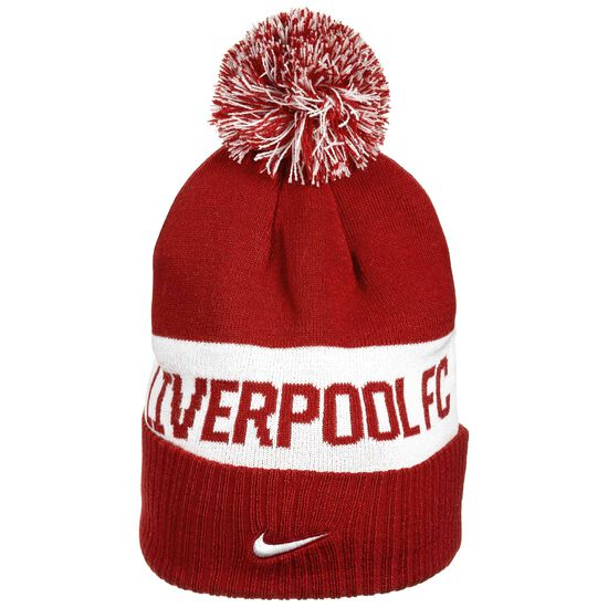FC Liverpool Pom Beanie, rot / weiß, zoom bei OUTFITTER Online