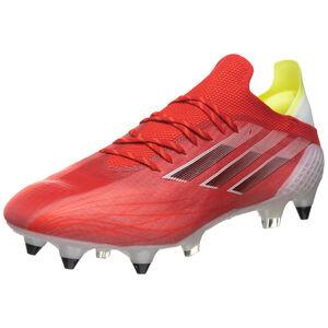 X Speedflow.1 SG Fußballschuh Herren, rot / weiß, zoom bei OUTFITTER Online