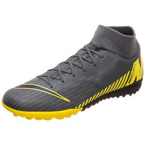 Mercurial SuperflyX VI Academy TF Fußballschuh Herren, dunkelgrau / gelb, zoom bei OUTFITTER Online