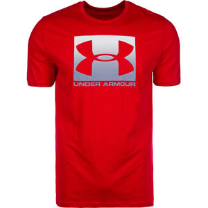 HeatGear Boxed Sportstyle Trainingsshirt Herren, rot / grau, zoom bei OUTFITTER Online