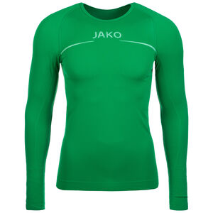 Comfort Trainingsshirt Herren, grün / weiß, zoom bei OUTFITTER Online