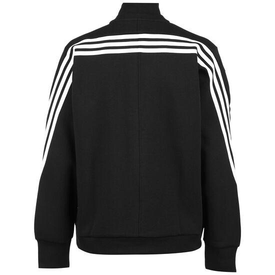 Wrapped 3-Streifen Sweatjacke Damen, schwarz / weiß, zoom bei OUTFITTER Online