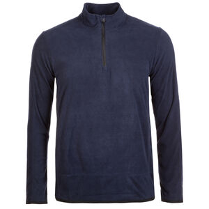 Fleece Team Trainingsshirt Herren, dunkelblau / schwarz, zoom bei OUTFITTER Online