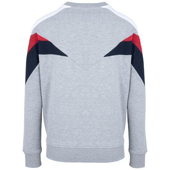 Hash Panel Crewneck Sweatshirt Herren, hellgrau / rot, zoom bei OUTFITTER Online