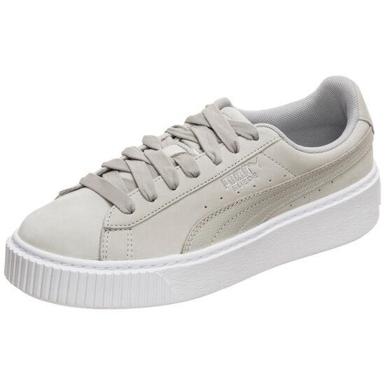 Suede Platform Shimmer Sneaker Damen, grau / weiß, zoom bei OUTFITTER Online