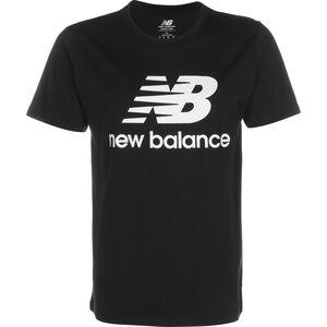 Essentials Stacked Logo T-Shirt Herren, schwarz / weiß, zoom bei OUTFITTER Online