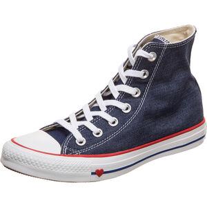 Chuck Taylor All Star High Sneaker Damen, dunkelblau / rot, zoom bei OUTFITTER Online