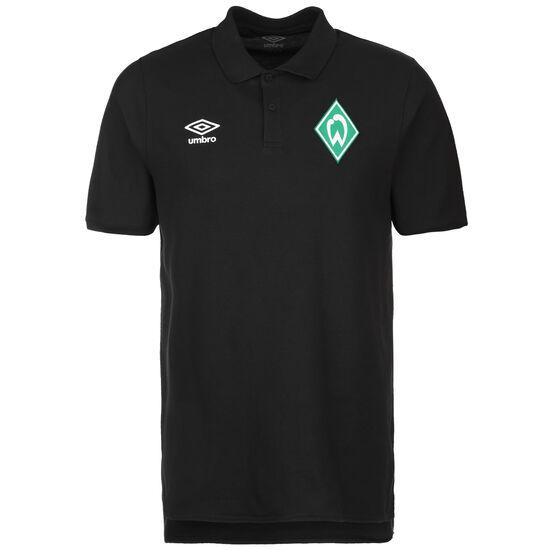 SV Werder Bremen Travel Poloshirt Herren, schwarz, zoom bei OUTFITTER Online