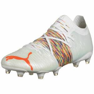 Future Z 1.1 FG/AG Fußballschuh Herren, weiß / neonrot, zoom bei OUTFITTER Online