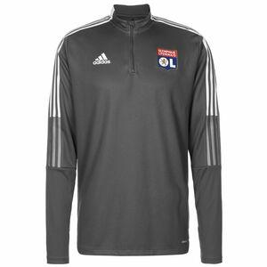 Olympique Lyon Trainingssweat Herren, dunkelgrau / weiß, zoom bei OUTFITTER Online