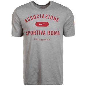 AS Rom Dry Preseason T-Shirt Herren, grau / rot, zoom bei OUTFITTER Online