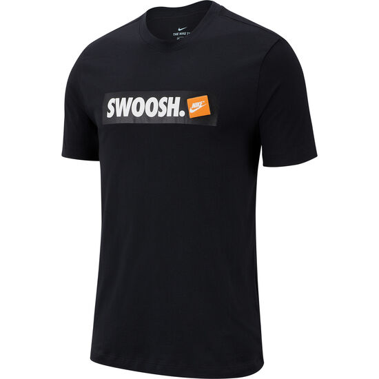 Swoosh T-Shirt Herren, schwarz / weiß, zoom bei OUTFITTER Online