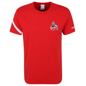 1. FC Köln Essential Pro T-Shirt Herren, rot / weiß, zoom bei OUTFITTER Online