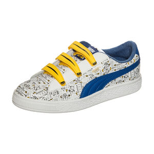 Minions X Puma Basket Sneaker Kinder, Weiß, zoom bei OUTFITTER Online