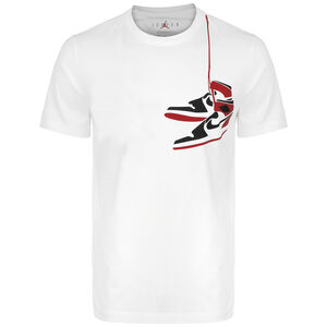 Jordan AJ1 Shoe Crew T-Shirt Herren, weiß / rot, zoom bei OUTFITTER Online