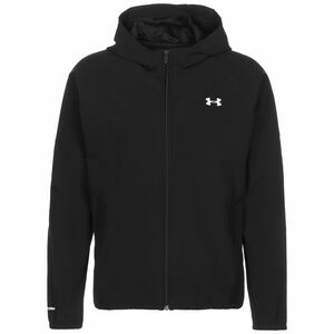 Woven Hooded Laufjacke Herren, schwarz / weiß, zoom bei OUTFITTER Online