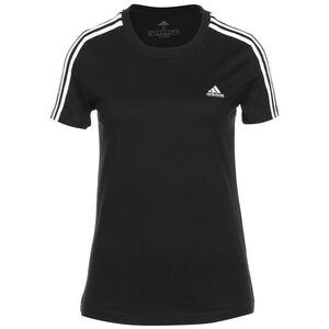 Essentials Slim 3-Streifen T-Shirt Damen, schwarz / weiß, zoom bei OUTFITTER Online