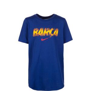 FC Barcelona Evergreen Crest T-Shirt Kinder, Blau, zoom bei OUTFITTER Online