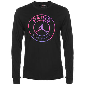 Paris St.-Germain Logo Longsleeve Herren, schwarz / pink, zoom bei OUTFITTER Online