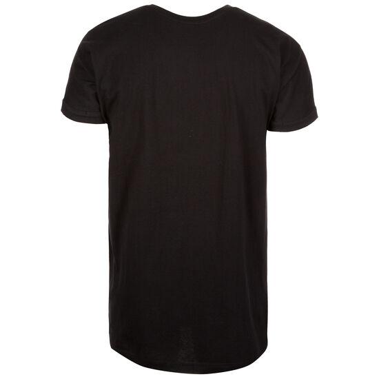 Long Shaped Turnup T-Shirt Herren, schwarz, zoom bei OUTFITTER Online