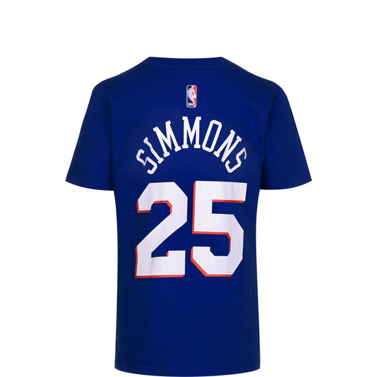 NBA Icon Edition Player #25 Ben Simmons T-Shirt Kinder, blau / gelb, zoom bei OUTFITTER Online