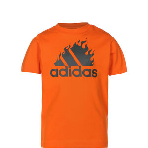 Badge of Sport Graphic T-Shirt Kinder, orange / anthrazit, zoom bei OUTFITTER Online