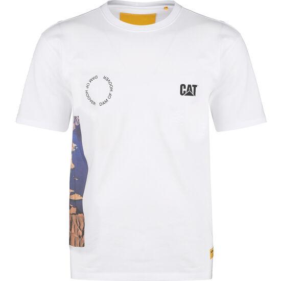 CAT Hoover T-Shirt Herren, weiß / bunt, zoom bei OUTFITTER Online