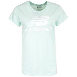 Essentials Stacked Logo T-Shirt Damen, weiß / grün, zoom bei OUTFITTER Online