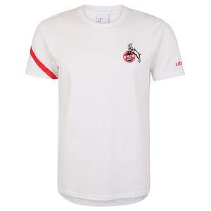 1. FC Köln Essential Pro T-Shirt Herren, weiß / rot, zoom bei OUTFITTER Online