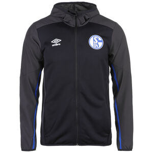 FC Schalke 04 Kapuzenjacke Herren, schwarz / grau, zoom bei OUTFITTER Online