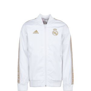 Real Madrid Anthem Jacke Kinder, weiß / gold, zoom bei OUTFITTER Online